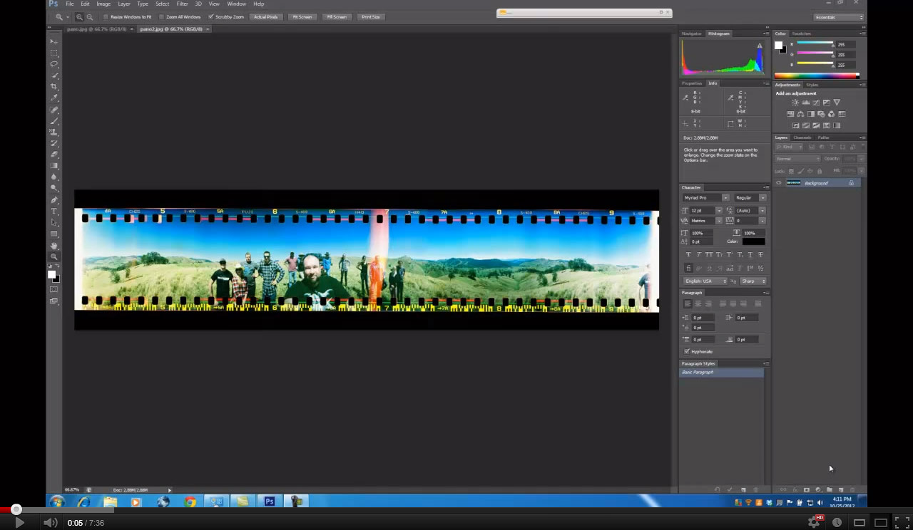 Using Photoshop's Timeline to Pan across a Panoramic Image