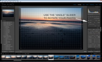 Use the Angle slider to rotate your photo