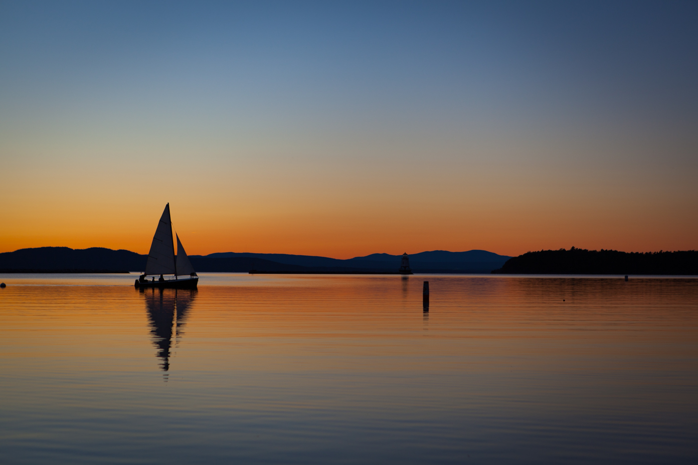Sunset in Burlington, Vermont