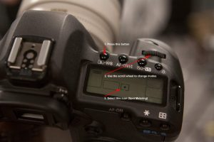 Canon 5D Mark II Spot Metering using top- of camera