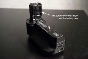 Meike battery door inside grip