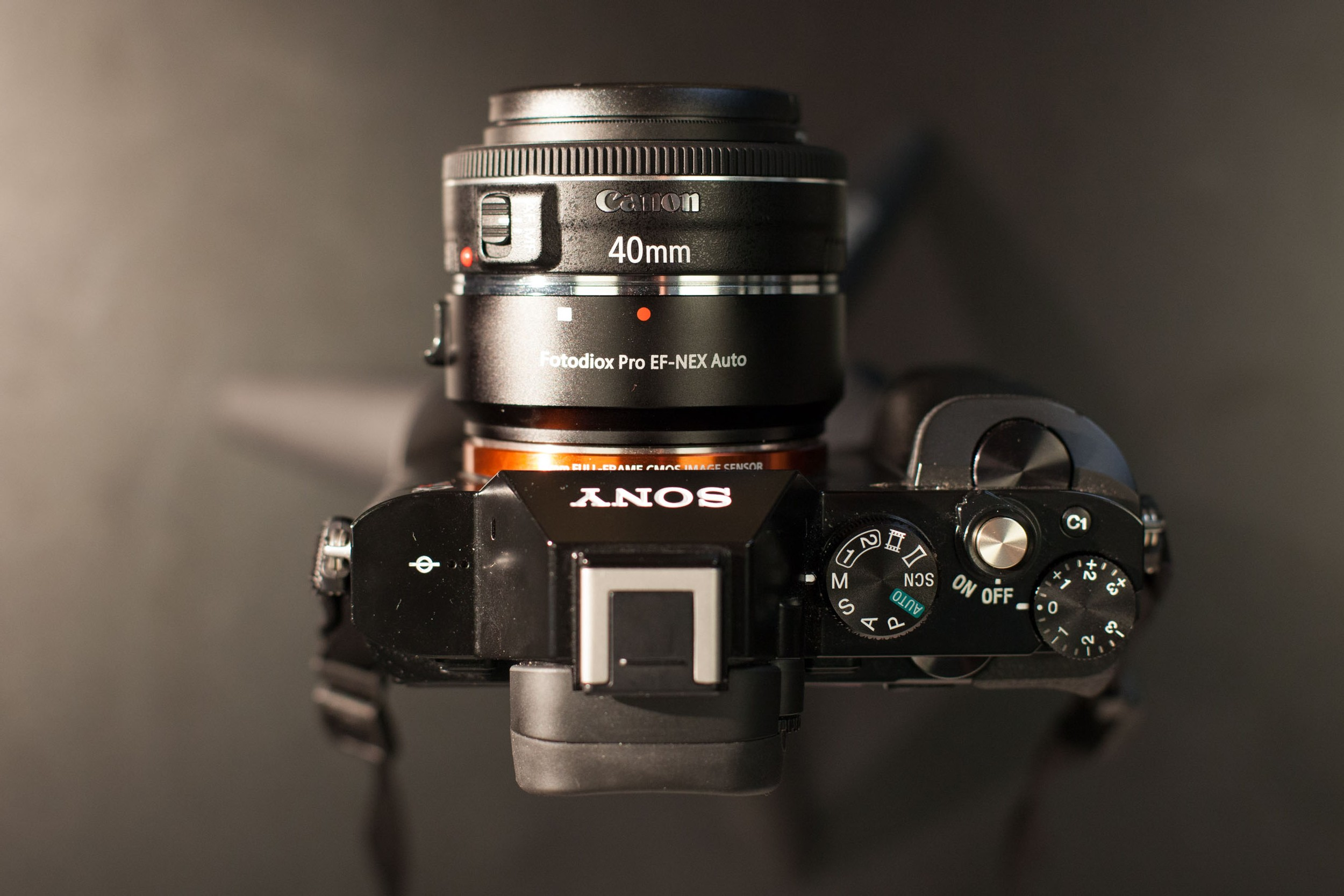 Using the Canon 40mm Pancake Lens with a Sony A7