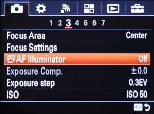af-illuminator-settings