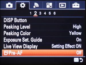 pre-af-settings