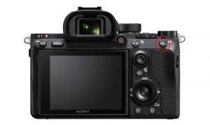 The AE Lock button on the back of the Sony A7R III