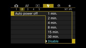 Disable the Auto power off settings!