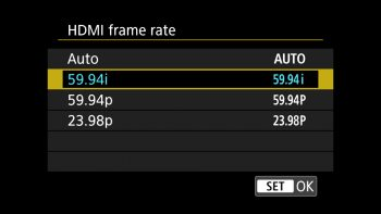 Select 59.94i