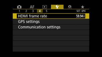Settings for HDMI frame rate
