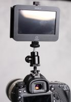 Ninja 2 attached to hotshoe adapter and attached to the camera