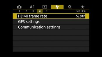 Canon 5D Mark IV HDMI Output Settings