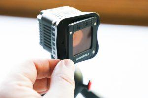 attaching Lume Cube light modifier