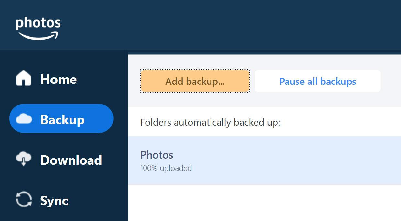Amazon Prime Raw Photo Storage